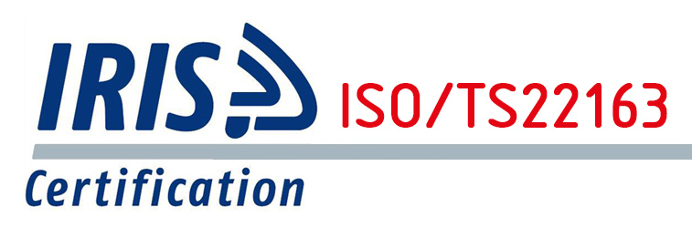 Successfully certified IRIS REV.03 ISO/TS22163 compliance